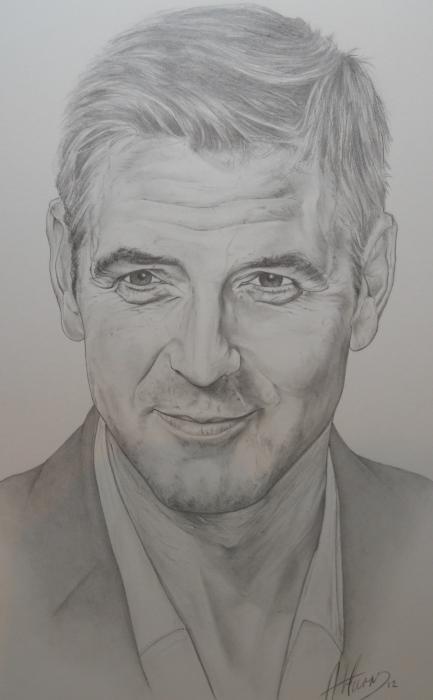 George Clooney by pencilartandy